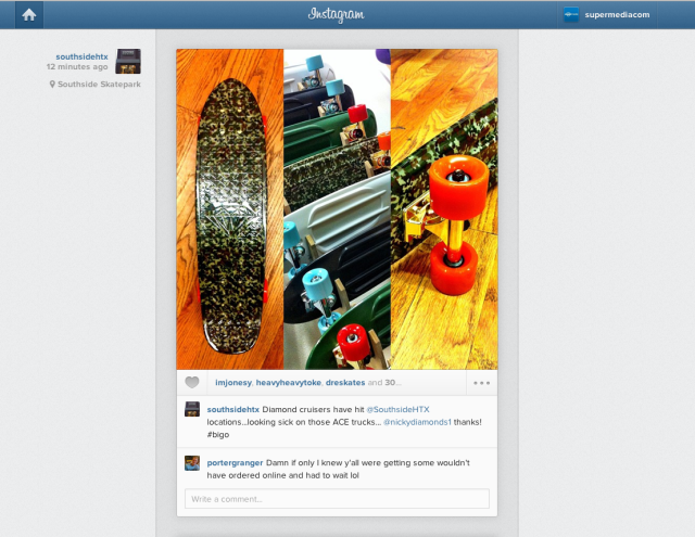 The new web-based instagram feed